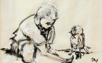 Junge mit Vogel   (296, Wolthoff) – derzeit ausgeliehen