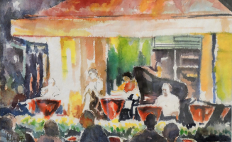 Venedig – Abendkonzert am Markusplatz   (318, Hepp)