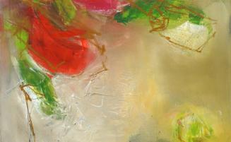 Blumenmotiv abstrakt   (633, Groha (jetzt Richter)) – derzeit ausgeliehen