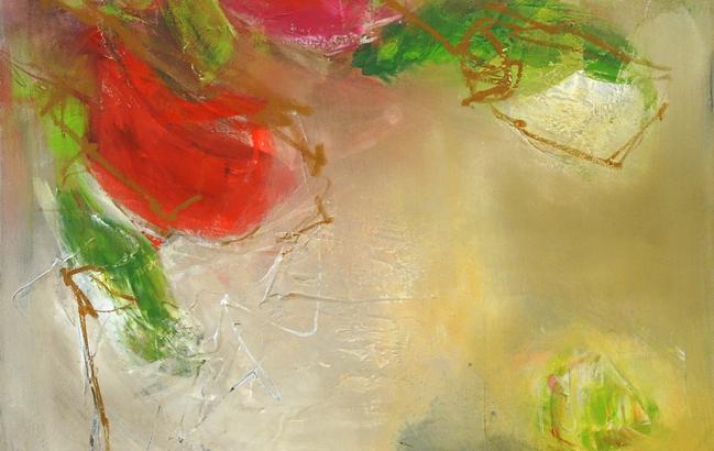 Blumenmotiv abstrakt <p> <br> (633, Richter)