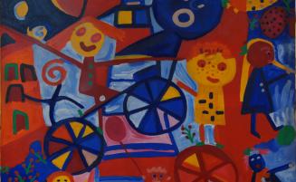 Spielende Kinder   (662, Adelberger)