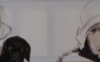 Frauenportraits (mit Hund)   (684, Weber)