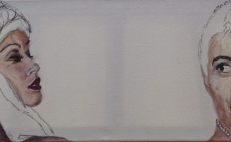 Frauenportraits (mit Perlenkette)   (685, Weber)