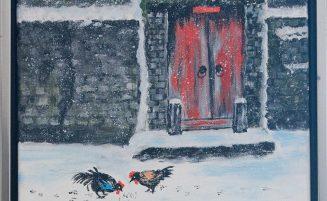 Hühner im Winter   (821, Parr) – derzeit ausgeliehen