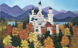 Schloss Neuschwanstein im Herbst   (754, Wind)