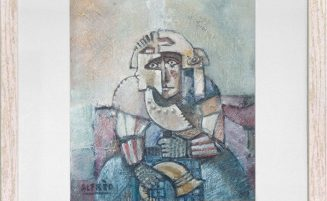Krieger auf dem roten Sofa   (729, Rüdinger)