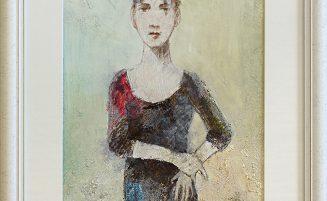 Frau mit schwarzem Vogel   (736, Rüdinger)