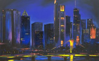 Frankfurt City bei Nacht   (889, Hermann) – derzeit ausgeliehen