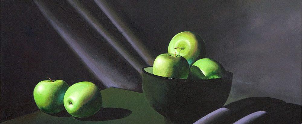 Stillleben mit grünen Äpfeln I <p> <br> (893, Hermann)