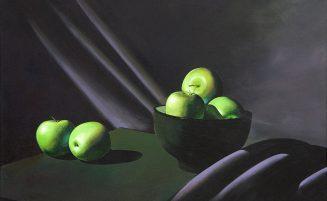 Stillleben mit grünen Äpfeln I   (893, Hermann)